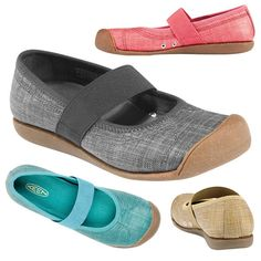 """""""Post-Yoga Mary Janes: When heading to and from the gym or studio, you'll want a comfy, supportive, lightweight shoe to slip on. Since flip-flops aren't the healthiest option for feet, step into a pair of these Keen Sienna MJ Canvas shoes."""" - FitSugar.com"""
