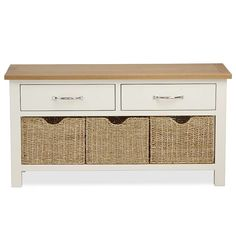 Exceptionnel Dunelm Sidmouth Textured Cream Storage Bench With Baskets