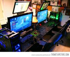 Every Gamer's Dream Setup - So want this for Aaron and I.