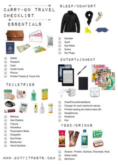 Outfit Posts: outfit posts: packing carry-on tote for a long flight