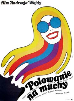 Polowanie na muchy  Polish film poster  1969
