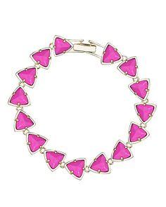 Ripley Link Bracelet in Magenta Magnesite - Kendra Scott Jewelry. Body Jewelry, Fine Jewelry, Women Jewelry, Meaningful Jewelry, Glitz And Glam, Kendra Scott Jewelry, Diamond Are A Girls Best Friend, Link Bracelets, Glitters