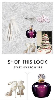 """""""Winter Wedding"""" by rosaregaler ❤ liked on Polyvore featuring KaufmanFranco, Jimmy Choo, Christian Dior and winterwedding"""
