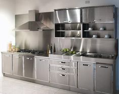 Stainless steel kitchen on Pinterest | Stainless Steel Kitchen ...