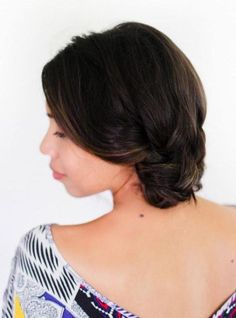 low loose homecoming updo