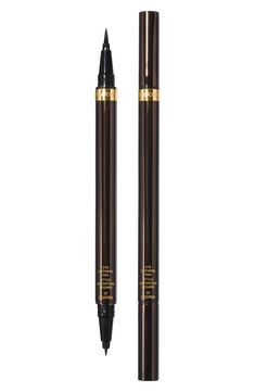 Free shipping and returns on Tom Ford Eye Defining Liquid Liner Pen at Nordstrom.com. Define your eyes with a bold liquid liner pen by Tom Ford. The innovative dual-ended liquid liner formulated in the blackest shade of black delivers ultimate precision and makes fluid strokes easy to achieve. It features a fine calligraphy tip on one end and a brush on the other to create a spectrum of transforming effects, from classic, sleek lines to dramatic wing tips or a sultry doe eye.