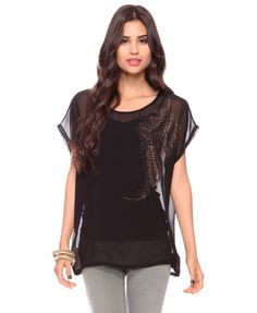 Forever 21- Studded Feather Top $17.80