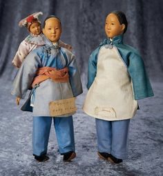 """""""Among Friends, The Billie and Paige Welker Collection"""": 47 Chinese Wooden Amah with Baby from Door of Hope Mission, Early Period"""