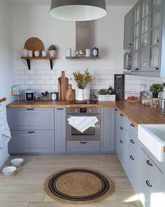 ideas kitchen countertops diy laminate stainless steel for 2019 Kitchen Paint, Home Decor Kitchen, Kitchen Interior, New Kitchen, Home Kitchens, Dream Kitchens, Kitchen Country, Glass Kitchen, Kitchen Countertops