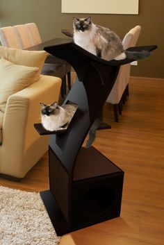 Little Lotus Cat Tower - I would love to get one of these for my baby