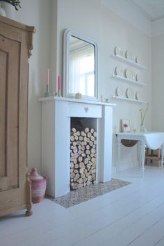 fireplace - eclectic - dining room - amsterdam - Holly Marder