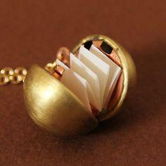 Secret message locket. Great gift idea.