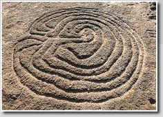 Prehistoric labyrinth petroglyph, Pansaimol, Goa, India