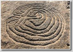 Prehistoric #labyrinth petroglyph  India