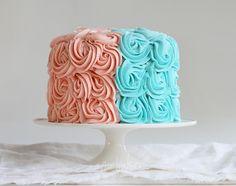 Gender Reveal Rose Cake