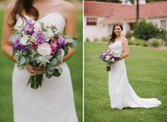 Purple and pink bride bouquet | Photographer: Brandon J Hook