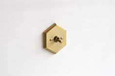Architectural hardware of the switch plate / MATUREWARE by FUTAGAMI / brass casting surface