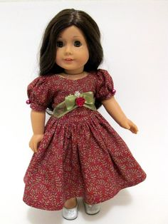 Christmas Eve Party Dress for American Girl by DollhouseDesigns, $42.00