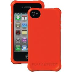 iPhone 4/4S LS Smooth Case (Orange with White, Orange, Black, Hot Pink Bumpers)