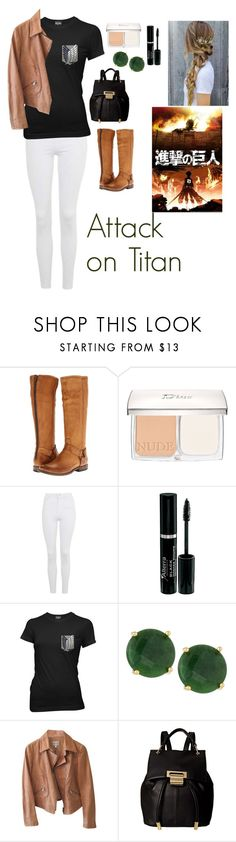 """""""Attack on Titan"""" by charbear231 ❤ liked on Polyvore featuring Frye, Christian Dior, Topshop, Ripple Junction, Panacea, Armani Collezioni and Ivanka Trump"""