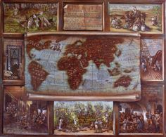 Painted on leather, with egg tempera,this map represent a history of coffee from the descovery (by a sheperd call Kally) till the firsts cofee shops Map Painting, Coffee Painting, Mixed Media Painting, Cofee Shop, Original Artwork, Original Paintings, Old Maps, Painting Leather, Paintings For Sale