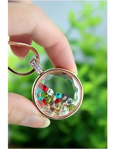 Jewelry - Multi Color Gemstone Charm Necklace - Only $14.95