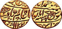 India (Bengal Presidency) British India AV Mohur 1788 Muhummad-Benaras Mint in name of Mughal Emperor Shah Alam II 1759-1809 my coll.