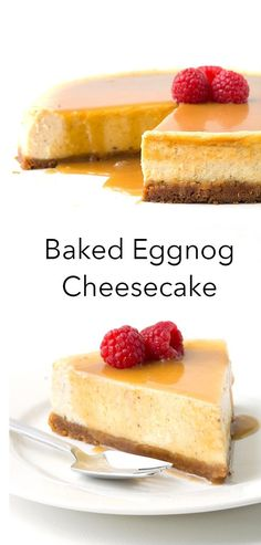 Baked Eggnog Cheesecake with Maple Caramel | Sweetest Menu