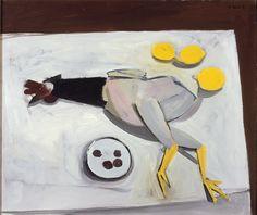 William Scott, [Italian Cockerel], 1949, Oil on canvas, 50.2 × 59.6 cm / 19¾ × 23½ in, Private collection