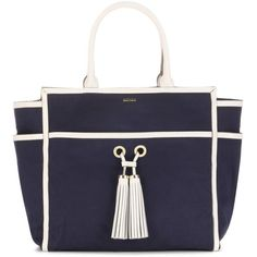 Melissa Odabash Palm Beach Canvas Tote (412,265 KRW) ❤ liked on Polyvore featuring bags, handbags, tote bags, blue, blue tote bag, blue purse, canvas tote purse, canvas purse and handbags totes