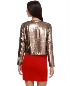 sequin jacket.