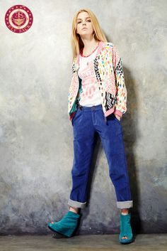 Womens Print Loose Coats Outerwear