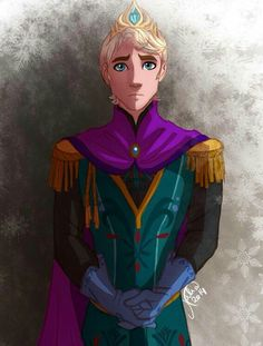 Male Elsa from Frozen. Awesome fan art