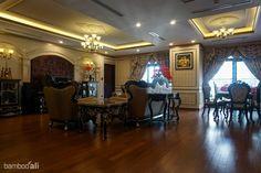 Sàn tre Ali ép khối màu cafe tại Royal City www.bambooali.com