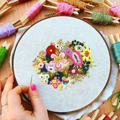 National Embroidery Month is over and I'm super sad about it fam.  But all good things must come to end and so with that - here is my finished piece! I've never done free stitching like his before and my goodness it was an experience! I may do some more in the future (I wish I could have filled this whole hoop so maybe that's what I will do)!  Now for the FINAL Stitch a Day giveaway: You all have 24 hours from now to post in the #stitchventure tag for entries! Just take a photo of you…