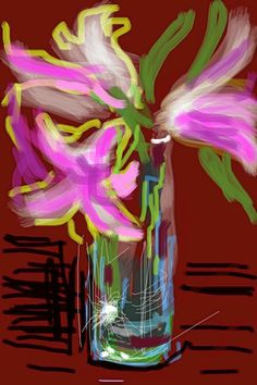 "David Hockney's delightful ""paintings"" are made with an iPhone app called Brushes."