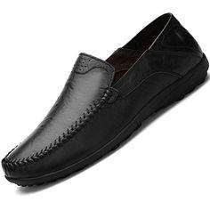 Lapens Men's Driving Shoes Premium Genuine Leather Fashio...