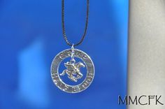 Pendant Diameter: 1.3 inches Chain Material and Length: leather (18 inches) Percy Jackson & the Olympians Camp Half Blood necklace features a Pegasus in