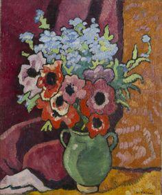 Cruches Verte Anemones et Fleurs Bleues by Louis Valtat, 1939