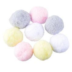 [EBay] Hoomall 100Pcs Multicolor Pompoms Ball Fur Craft Diy Soft Pom Poms Wedding Home Decoration Sewing On Cloth Accessories Round 3Cm