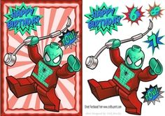 Box spider man in funky red frame A5 on Craftsuprint - View Now!