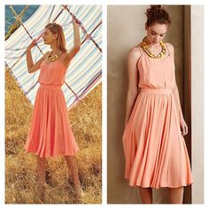 """NWT Anthropologie Paper Crown Peachtree Dress - 2 Paper Crown, the fizzy, femme fashion line launched in 2011 by Lauren Conrad, offers modern takes on classic styles, reinventing wardrobe staples with youthful elegance. Polyester crepe; polyester lining Set-in waist Blouson bodice Side zip Hand wash Imported Style No. 4130403041611 Dimensions Regular falls 40"""" from shoulder Petite falls 37.25"""" from shoulder Model Notes Model is 5'10"""" Anthropologie Dresses"""