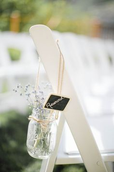 Mason Jar and Twine Flower Holders | 37 Things To DIY Instead Of Buy For Your Wedding