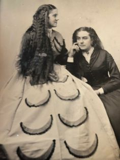 Gorgeous Antique Tintype Photo Long Haired Beauties Watermelon Slices On Skirt Tintype Photos, Sitting Poses, Watermelon Slices, Long Hair Styles, Antiques, Skirts, Beauty, Image, Beautiful