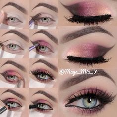 Makeup tutorial ... can totally see this with Younique Mineral pigments in sexy, sassy and daring!!!! So pretty!!! www.prettygirlsmakeupartisty.com