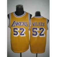 d63fc8b69 NBA Los Angeles Lakers Jersey   Jamaal Wilkes  52 Throwback Stitched Men s  Yellow Jersey Nba
