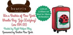 Beatrix of New York Wheelie Bag: Juju (Ladybug) Giveaway