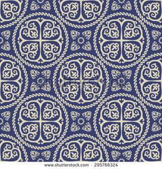 Ornamental seamless byzantine art style pattern. Abstract background - stock vector
