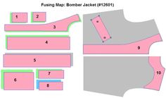 bomber jacket cutting pattern - Google Search