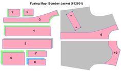 bomber jacket cutting pattern - Google Search